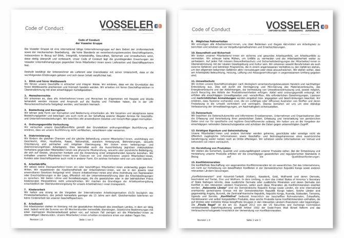 Qualität - Vosseler - Code of conduct
